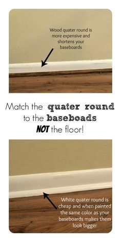Wood or white quarter round? - Simply Swider