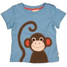 Monkey Applique T Shirt (Diy Shirts Ideas) Applique Templates, Applique Patterns, Applique Designs, Embroidery Applique, Sewing Patterns, Love Sewing, Sewing For Kids, Baby Sewing, T Shirt Painting