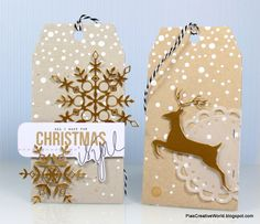 Gorgeous gift tags by Pia Larsen using Simon Says Stamp Exclusives.