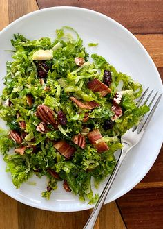 Brussel Sprout Salad, Kale Salad, Bacon Salad, Sprouts Salad, Simply Recipes, Vegetables, Gluten Free Recipes, Healthy Recipes, Big Salad
