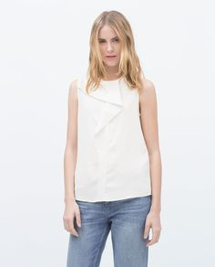 Image 2 of RUFFLE FRONT TOP from Zara