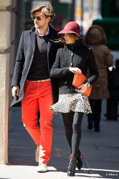 Men's bright trousers