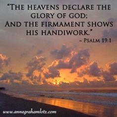 Morning Glory -- Psalm 19:1 #lessonsfromthefigtree | Anne Graham Lotz