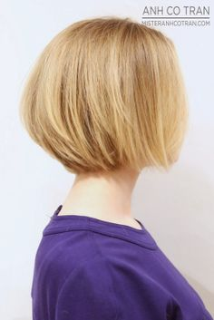NYC: A SHORT CUTE BOB. Cut/Style: Anh Co Tran. Appointment inquiries please call Ramirez|Tran Salon in Beverly Hills: 310.724.8167