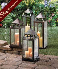 Attrayant 12 Wholesale Lanterns, Large Bronze Centerpieces, Milani Lanterns, Bulk Lot