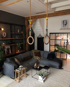 21 Cozy Living Rooms Design Ideas - Home Design - Info Virals - New Fashion and Home Design around the World Manly Living Room, Cozy Living Rooms, Living Room Modern, Home Living Room, Interior Design Living Room, Living Room Furniture, Living Room Designs, Living Room Decor, Small Living