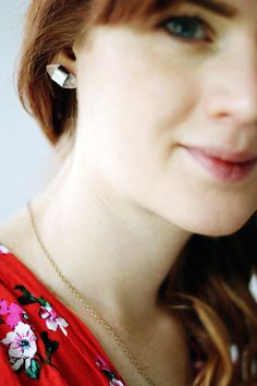 Oh the lovely things: DIY Silver & Resin Earrings (Guest Post by Francesca)