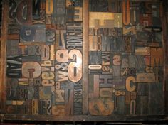 Letterpress wood type collage
