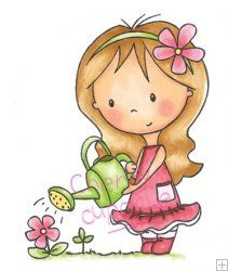 Mia Gardening - Wild Rose Studio
