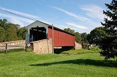 Weaver's Mill Covered Bridge  County - Lancaster  Length - 85ft  Built - 1878