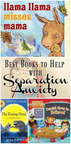 Childrens books about separation anxiety