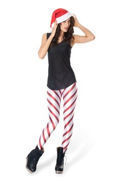 Candy Cane 2.0 Red Leggings › Black Milk Clothing