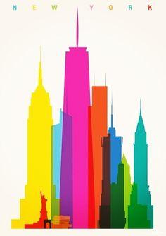 New York Skyline Urban