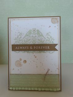 cards by carli: Always & Forever, this day forward, gorgeous grunge, stampin up