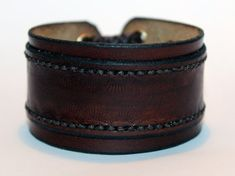 Brown Leather Cuff Bracelet! Unique Leather Gift! Hight quality item! Brown Bracelet! Leather Accessories!