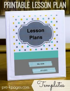 preschool lesson plan template Printable Lesson Plans for Preschool, Pre-K, and Kindergarten Pre K Lesson Plans, Lesson Plan Binder, Preschool Lesson Plan Template, Lesson Plan Examples, Lesson Plans For Toddlers, Kindergarten Lesson Plans, Lesson Plan Templates, Preschool Curriculum, Preschool Lessons