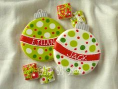Lizy B: My Favorite Personalized Christmas Cookies - ornaments
