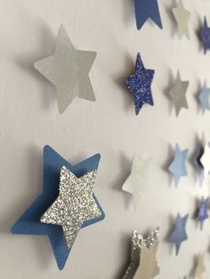 Image of Stars - Extra Large - 'The Night Sky' - Dark Blue/Silver Glitter