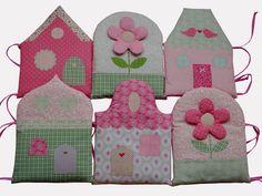 """Nestchen, Bettnestchen """"Häuser"""" pastell rosa von Eule Lulu auf DaWanda.com"""