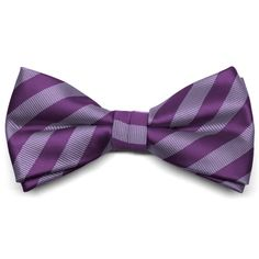 Shop men's formal striped bow ties at discount prices. Top choice for groomsmen attire. Pre-tied band collar fits most neck sizes. Wisteria Wedding, Purple Wedding, Wedding Colors, Wedding Ideas, Wedding Activities, Bow Tie Collar, Groom And Groomsmen, Color Swatches, Accent Colors