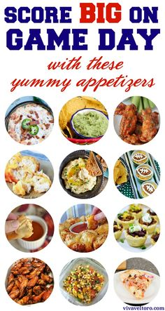 Game day appetizers - so many great recipes to take to your tailgate or party! Dip, wings, pizza and more!