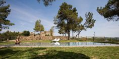 La Garriga del Castelladral, Monstserrat, Catalonia Region. Swimming pool.