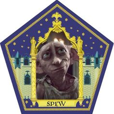 spew choclate frog card