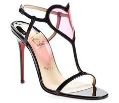 "christian louboutin ""Cora"" patent leather sandal"
