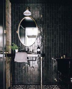 J Ξ F F⠀T R O T T Ξ R (@jefftrotterdesign) posted on Instagram • Mar 1, 2021 at 10:56pm UTC Green Kitchen Cabinets, Barbie Dream House, Interior Decorating, Interior Design, Basement Bathroom, Lake View, House Design, Mirror, Bathrooms