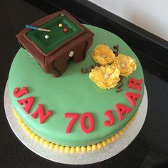 Biljart taart cake man 70 jaar