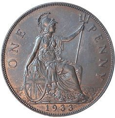 1933 Penny – among the rarest coins of all time Old Coins Worth Money, Old Money, Rare British Coins, Rare Coin Values, Stamp Values, English Coins, Rare Pennies, Canadian Coins, Foreign Coins