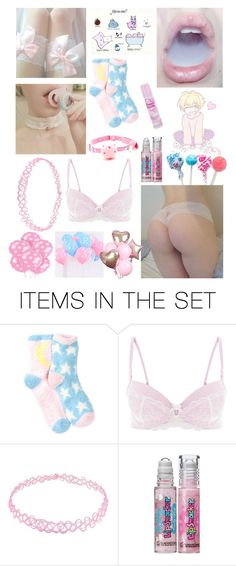 """pink and blue little"" by babygirlgoji ❤ liked on Polyvore featuring art, bdsm, ddlg, littlespace, mdlb and ddlb"