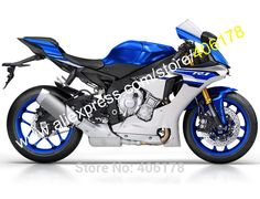 Hot Sales,For Yamaha YZF-R1 15 16 YZF 1000 2015 2016 YZFR1 YZF R1 Blue Gray Aftermarket Motorbike Fairing (Injection molding)