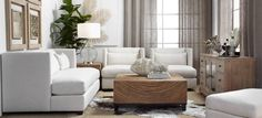 White, Taupe/Gold, Charcoal/Silver, Wood + lavender + green (bamboo) + black small accents - Z Gallerie