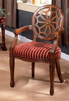 Edinburgh Accent Chair in Dark Oak Finish  Antique Oak Finish by Furniture of America ** Want to know more, click on the image.Note:It is affiliate link to Amazon.