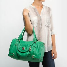 Green Satchel with room for everything!