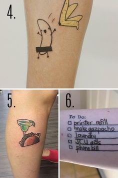 You consider yourself a pretty funny person so, you need a fun and funny tattoo to show you have a sense of humor! Check out these 43 Funny Tattoo Ideas! Sibling Tattoos, Sister Tattoos, Small Forearm Tattoos, Small Tattoos, Couple Tat, Things To Do At A Sleepover, Matching Tats, Friendship Tattoos, Cool Tattoos For Guys