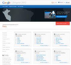 Google Zeitgeist - Tendencias de búsqueda de 2012 Perú