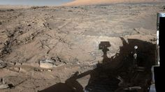 Curiosity rover snaps shot of the Naukluft Plateau