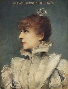 Portrait de Sarah Bernhardt par Louise Abbéma, 1875 Pin by @ChansLauPeople