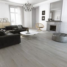 Barlinek Ash Puerto Rico is an engineered plank floor with a brushed grey matt lacquer finish. This elegant wood floor looks especially good with its fascinating grain pattern unique to Ash floors.