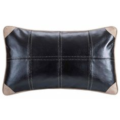 River Run Faux Leather Pillow