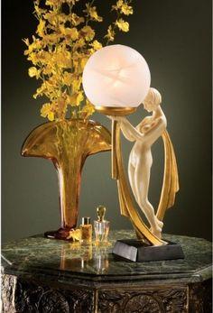 Art Deco - Female Lamp - The Great Gatsby - 1920's - 1930's - Interior Lighting - Lighting ideas