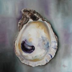 Oyster Shell Art | Oyster Shell Painting by Kristine Kainer