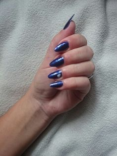 #nightblue #mynails #natural #diamond