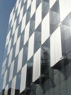 Glass curtain wall is that of a three dimensional checkerboard, achieved by alternating panels of clear laminated glass with panels which have SEFAR® Architecture Vision Purple Curtains, Floral Curtains, Rustic Curtains, Colorful Curtains, Farmhouse Curtains, White Curtains, Patterned Curtains, Double Curtains, Velvet Curtains