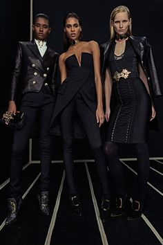 Ready-To-Wear Collection via Designer Olivier Rousteing   Modeled by Cindy Bruna, Ysaunny Brito, and ?   January 25, 2016; New York