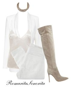 """""""Chic"""" by romaritasenorita ❤ liked on Polyvore featuring Givenchy, Nobody Denim and Gianvito Rossi"""