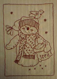 Christmas Pocket Bags Stitchery