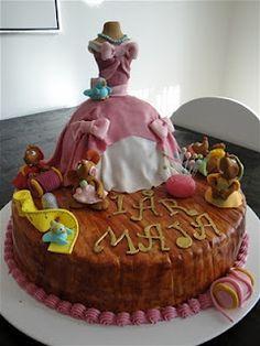 Winnie the Pooh Cake Tinkerbell Cake Hello Kitty Cake Cindarella Cake Snow White Cake Curious George Cake Cinderella Baby Shower, Cinderella Cakes, Cinderella Party, Daughter Birthday, 4th Birthday, Birthday Cakes, Birthday Ideas, Curious George Cakes, Snow White Cake
